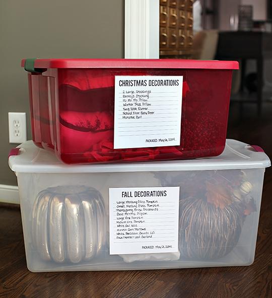 Storage Boxes Labels